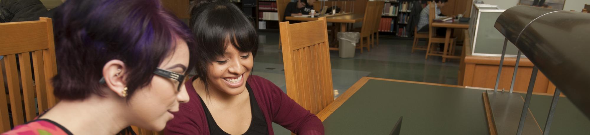 Students helping each other